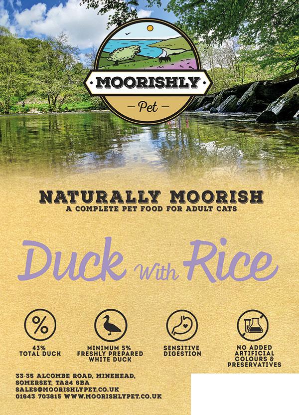 Naturally Moorish Cat Food Duck and Rice 2kg