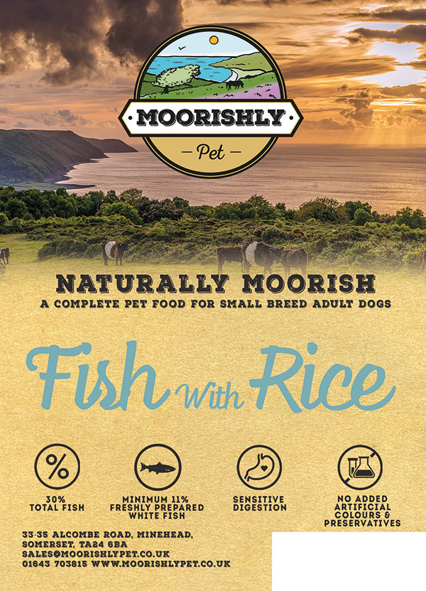 Naturally Moorish Adult Dog Food Fish and Rice Small Bite 2kg