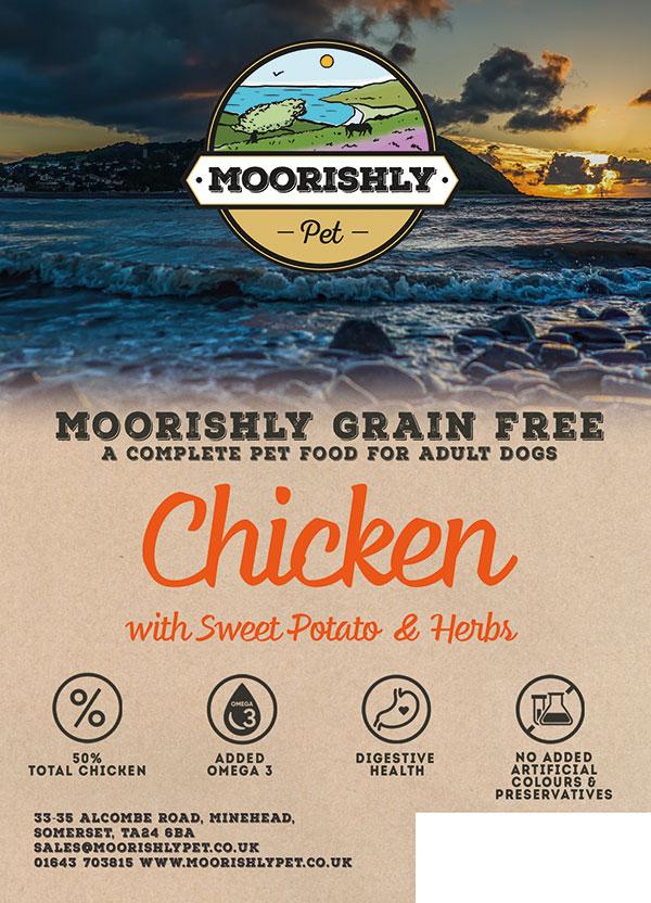 Moorishly Grain Free Adult Dog Food Chicken with Sweet Potato and Herbs