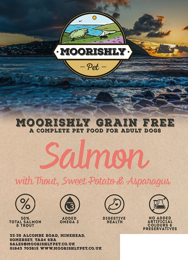 Moorishly Grain Free Adult Dog Food Salmon with Trout Sweet Potato and Asparagus