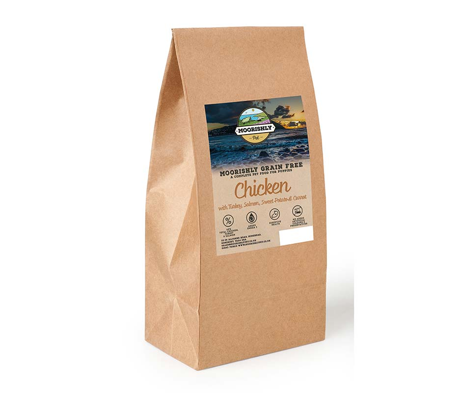 Moorishly Grain Free Puppy Dog Food Chicken with Turkey and Salmon with Sweet Potato and Carrot