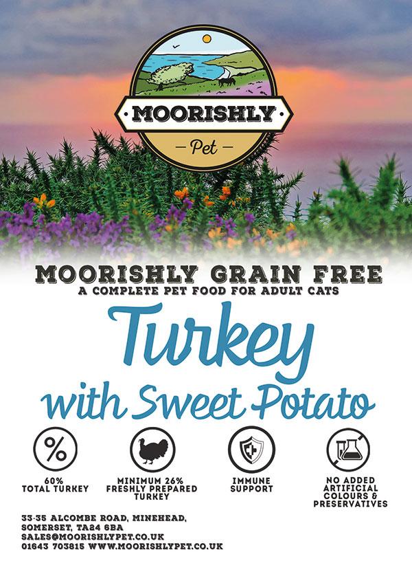 Moorishly Grain Free Cat Food Turkey and Sweet Potato 2Kg