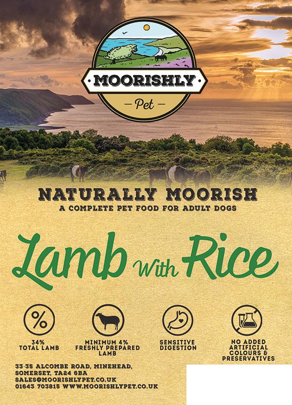 Naturally Moorish Adult Dog Food Lamb and Rice 2kg