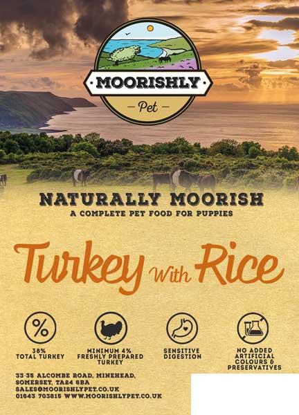 Naturally Moorish Turkey with Rice for Puppies