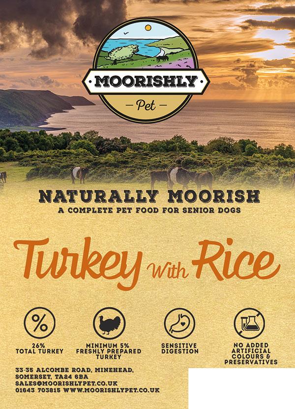Naturally Moorish Adult Dog Turkey and Rice Senior-Light 2kg