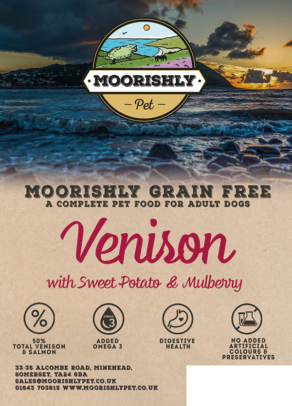 Moorishly Grain Free Adult Dog Food Venison with Sweet Potato and Mulberry