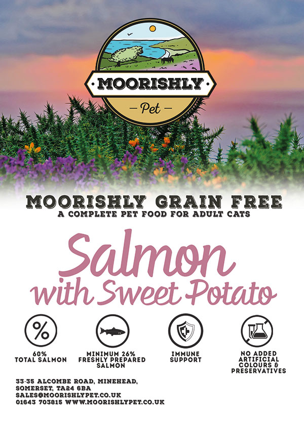 Moorishly Grain Free Premium Cat Food Salmon and Sweet Potato