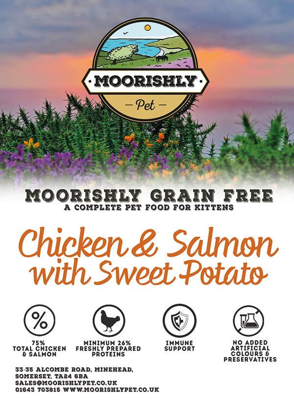 Moorishly Grain Free Premium Kitten Food Chicken and Salmon with Sweet Potato