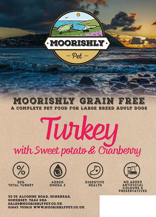 Moorishly Grain Free Adult Premium Dog Food Turkey with Sweet Potato and Cranberry