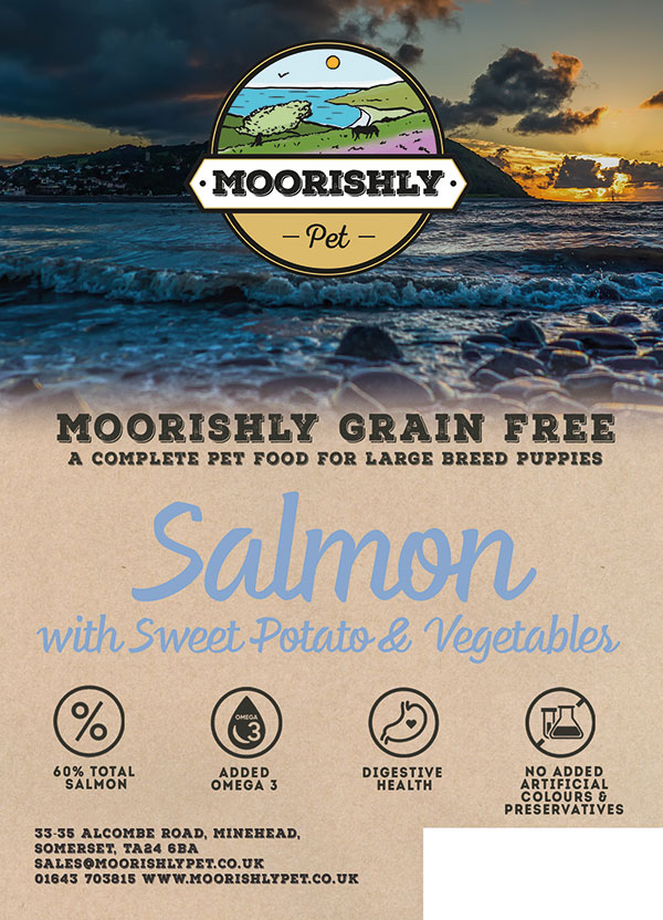 Moorishly Grain Free Large Breed Puppy Dog Food Salmon with Sweet Potato and Vegetables