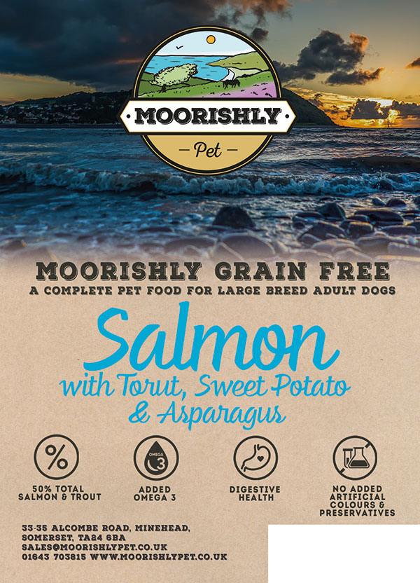Moorishly Grain Free Adult Premium Dog Food Salmon with Trout including Sweet Potato and Asparagus