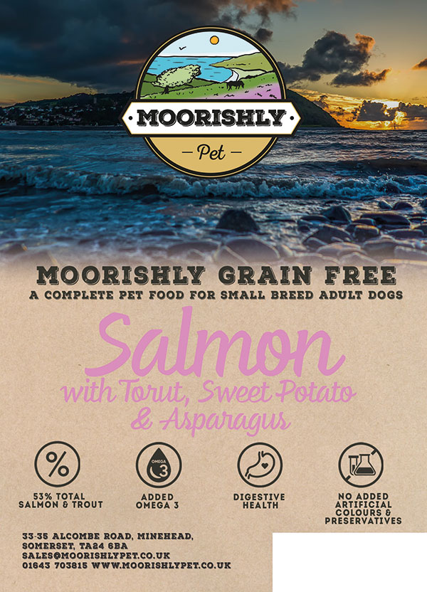 Moorishly Grain Free Quality Small Breed Adult Dog Salmon with Trout and Sweet Potato with Asparagus