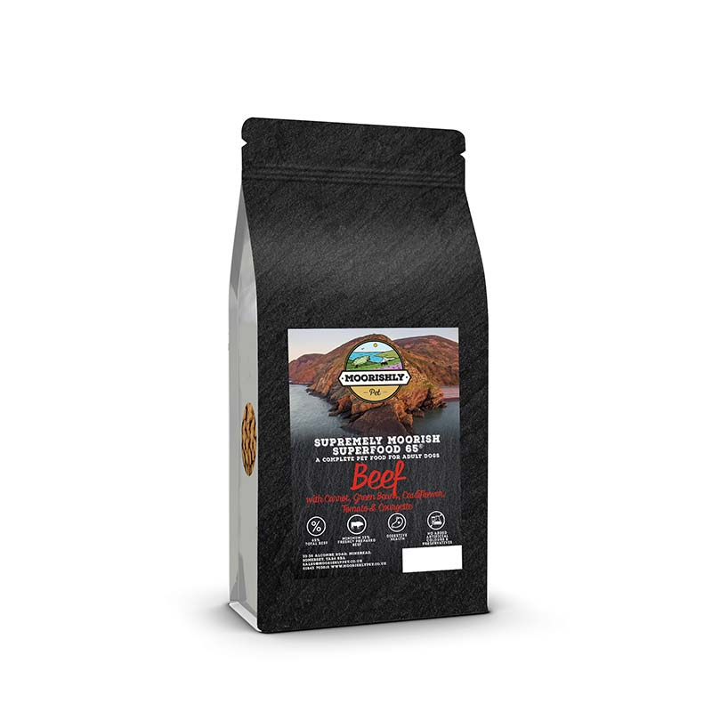Supremely Moorish Superfood 65 Adult Dog Food Beef and Carrot with Mixed Vegetables
