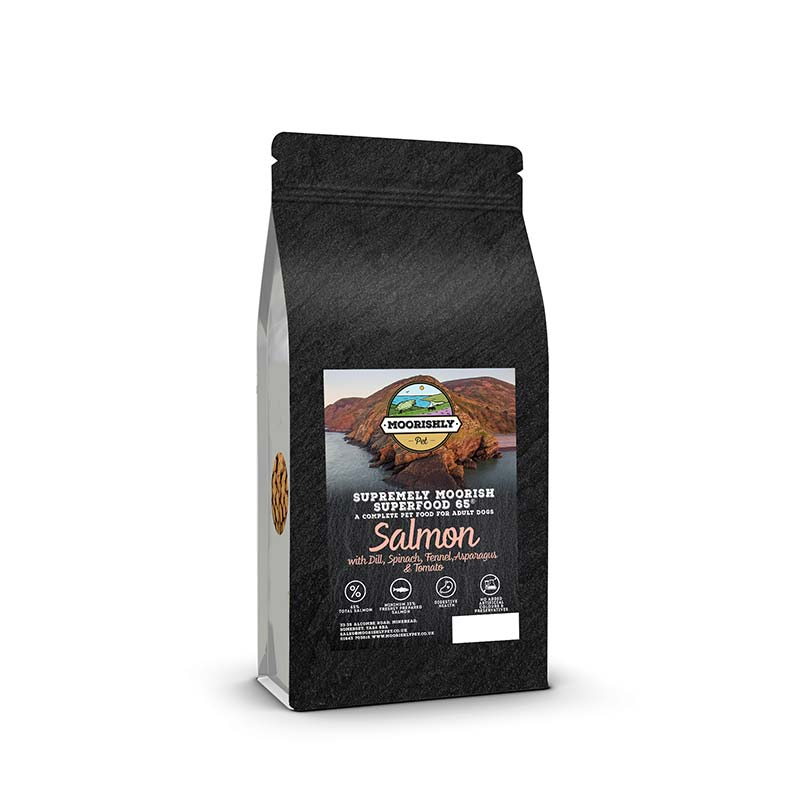 Supremely Moorish Superfood 65 Adult Dog Food Salmon and Dill with Mixed Vegetables