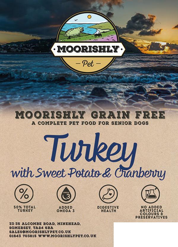 Moorishly Grain Free Senior Dog Food Fish Turkey with Sweet Potato & Cranberry