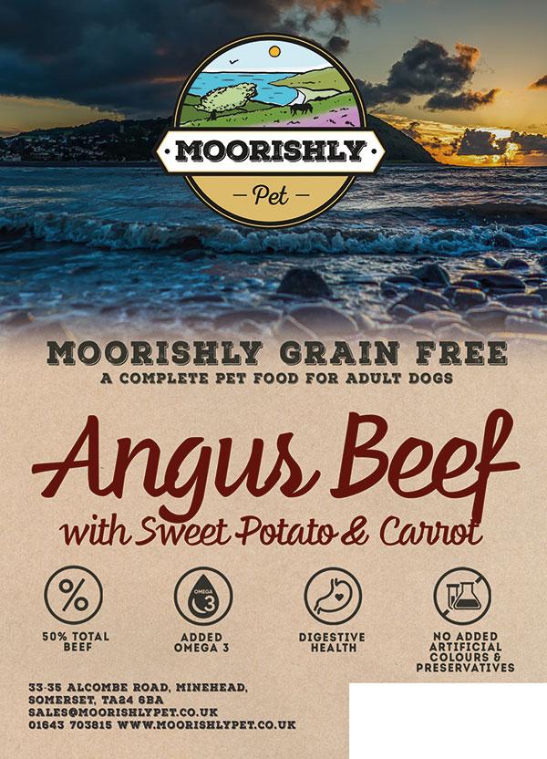 Moorishly Grain Free Adult Premium Dog Food Angus Beef with Sweet Potato and Carrot