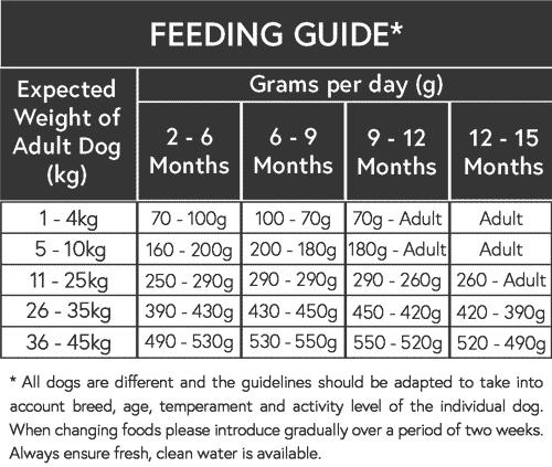 Puppy Dog Food Feeding Guide