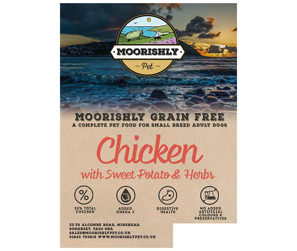 Moorishly Grain Free Quality Small Breed Adult Dog Chicken with Sweet Potato and Herbs