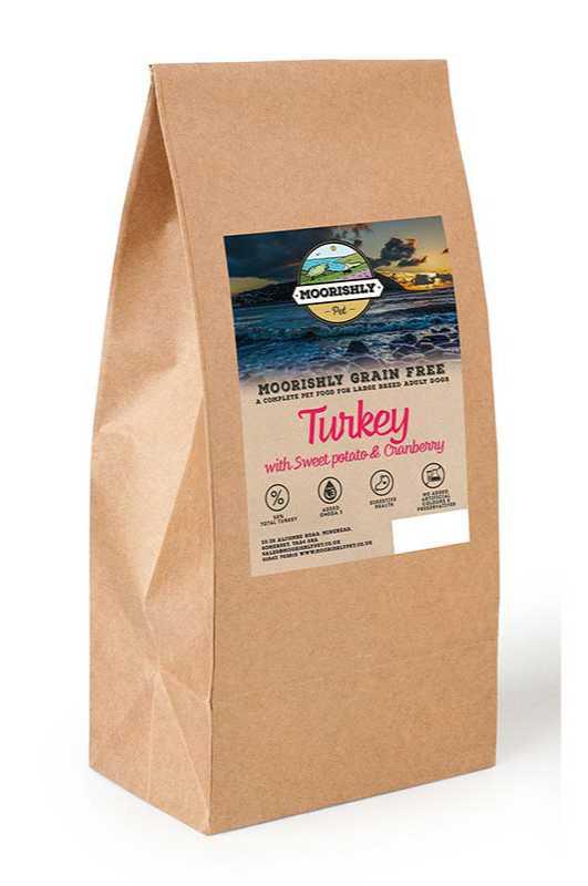 Moorishly Grain Free Adult Premium Large Breed Dog Food Turkey with Sweet Potato and Cranberry