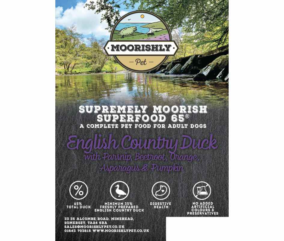 Supremely Moorish Superfood 65 Adult Dog Food Duck and Parsnip with Mixed Vegetables