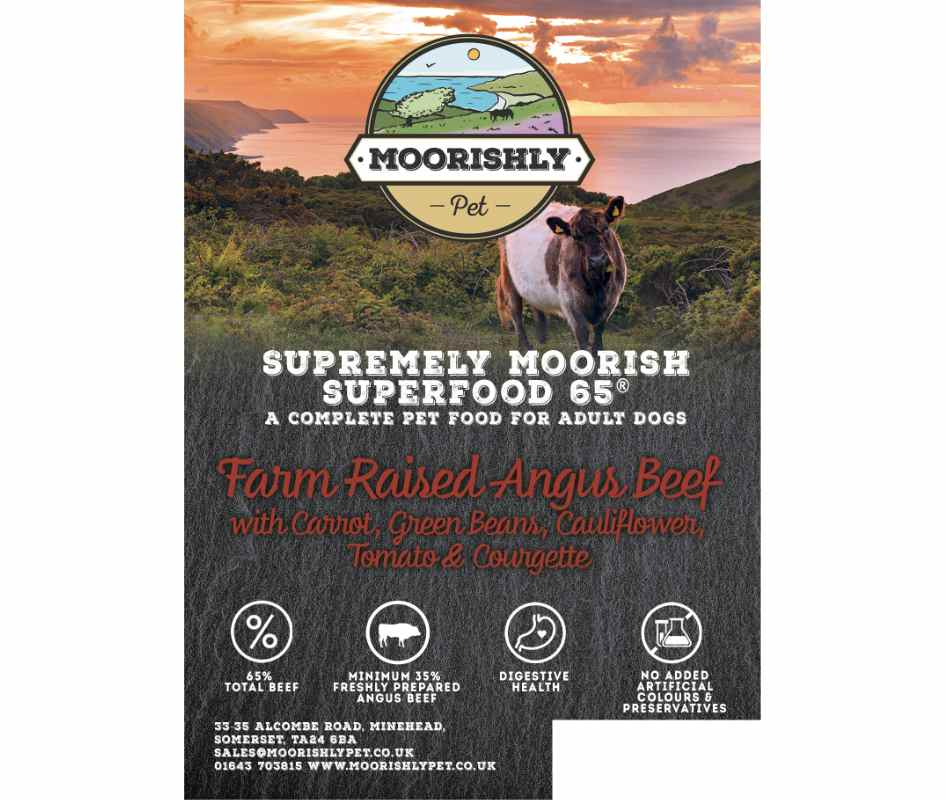 Supremely Moorish SUPERFOOD 65 ADULT Dog Food BEEF and Carrot with Mixed Vegetables 12Kg