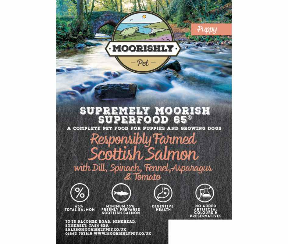 Supremely Moorish SUPERFOOD 65 PUPPY Dog Food with Salmon and Dill with Mixed Vegetables 12KG